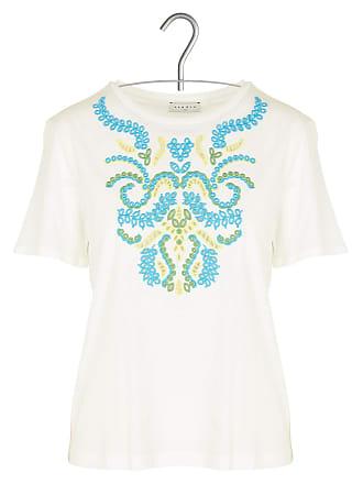 Rundhals-T-Shirt mit Blumen-Print und Rückenausschnitt Sandro bU98Z2Vv2