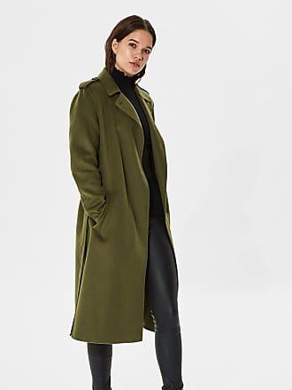 Selected Femme Klassischer Trenchcoat, grün, Reflecting Pond Selected