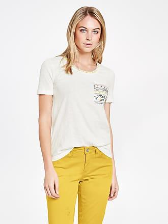 Baumwoll-Shirt mit Stickerei Ecru-Beige Damen Taifun FHE3j