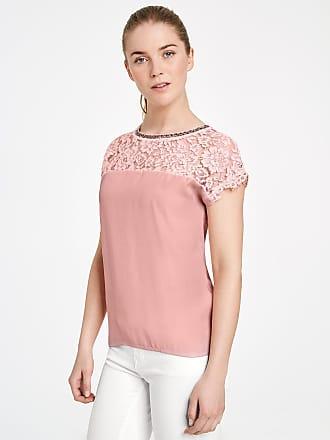 Blusenshirt mit Spitze Lila-Pink Damen Taifun nn0IRQQfK