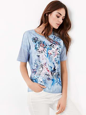 T-Shirt mit Rüschen Grau Damen Taifun 70B5ew12