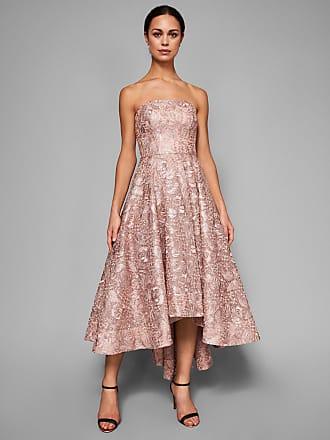 Ela - Mittellanges%2c weiches Brautjungfernkleid mit Bardot-Ausschnitt - Rosa Coast k6i97VsxC