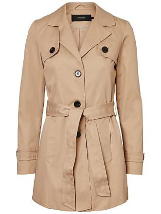 Langer Trenchcoat Dames Blauw Vero Moda 8812pOfN3