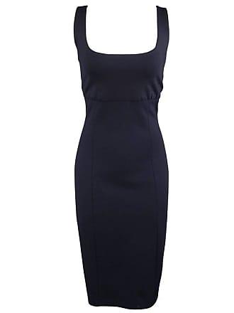 1stdibs Ralph Lauren Size 10 Navy Wool Blend Jersery Sleeveless Sheath Dress