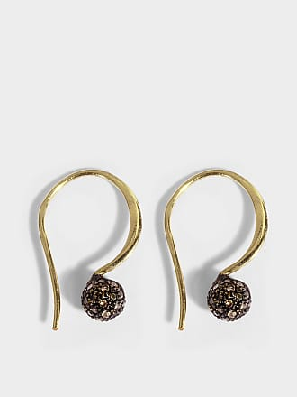 5 OCTOBRE Caleb Earrings in 24K Gold-Plated Silver and Diamonds