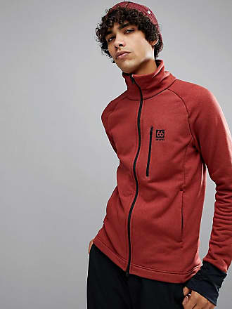 66 North Atlavik Mid Layer Logo Jacket In Red - 232 66ºNorth