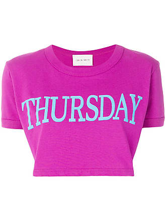 b6d2bafff4 Alberta Ferretti Camiseta cropped Thursday - Pink   Purple