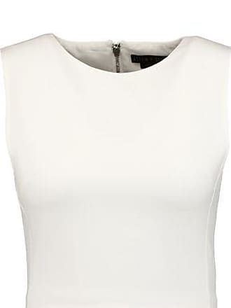Alice + Olivia Woman Iman Cropped Cloqué Top White Size 12 Alice & Olivia