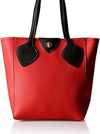 Georgia Medium Tote, Fire Red-Stone Anne Klein