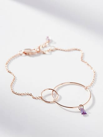 Anthropologie Hula Hoop Birthstone Bracelet