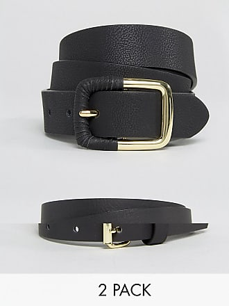 Mono Stripe Elastic Seat Belt Buckle Belt - Black/white Asos