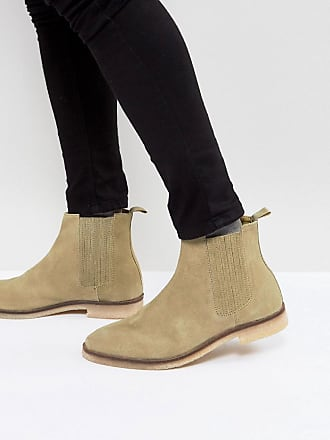 Desert boots larges en daim - Taupe - TaupeAsos