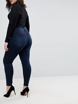 ASOS DESIGN Curve - Ridley - Skinny-Jeans in blauschwarzer Vivienne-Waschung mit hohem Bund - Blau Asos Curve