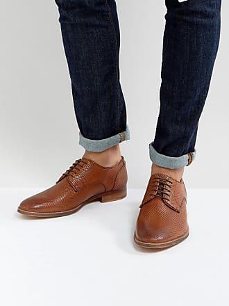 Chaussures Richelieu Derby En Cuir Brun - Brun Asos