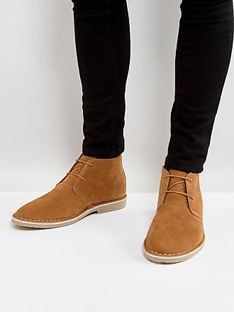 Desert Boots En Daim Beige Faux - Asos Tan