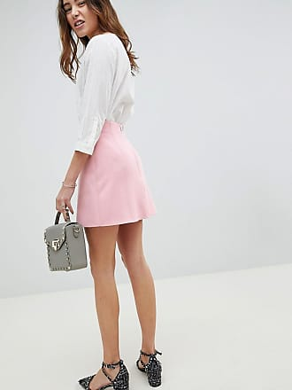 DESIGN a line mini skirt with pocket front detail - Blush Asos