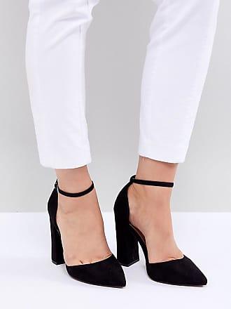 ASOS DESIGN - Pebble - Chaussures de mariée pointues à pointure large et talons hauts
