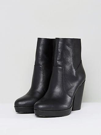 Bottines & low boots plates EGO simili cuir noir 36