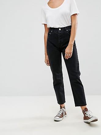 DESIGN - Corsagen-Jeans mit weitem Bein und Kontrasteinsatz - Mehrfarbig Asos