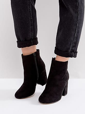 ASOS DESIGN - Envy - Bottines en cuir pointure large - Noir