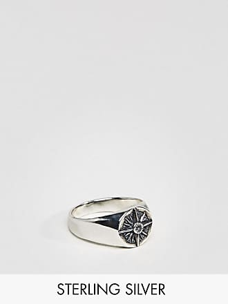 Vivienne Westwood Ring for Men, Black, Sterling Silver, 2017, Small X-Large