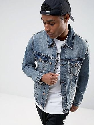 Asos jeansjacke mit borg kragen