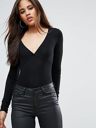 Velvet Body With Plunge Neck - Oxblood Asos Tall
