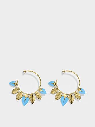 Feidt Paris Trompe-Loeil Mono Earring in 9K Gold and Grey Sapphire