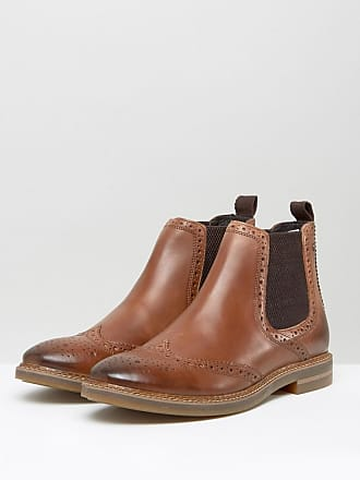 Bosworth - Bottines chelsea style richelieu en cuir - Marron - MarronBase London