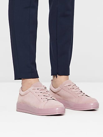 Bianco Geschnürte Wildleder Sneaker, rosa, Light pink