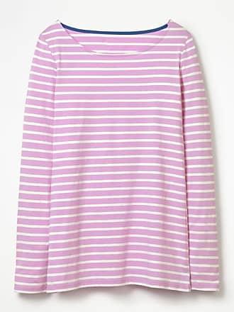 Kurzärmliges Bretonshirt Pink Damen Boden 48