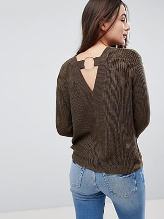Lord Longline Jumper With Cut Out Back Detail - Khaki Brave Soul
