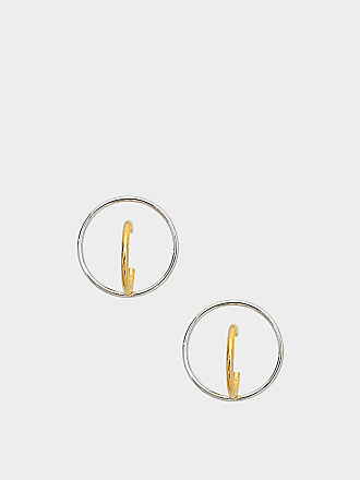 Saturn M Earrings in Yellow Vermeil and Silver Charlotte Chesnais