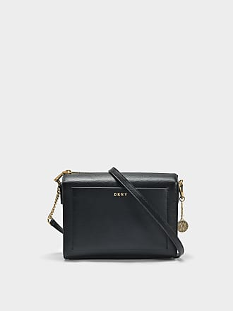 DKNY Pochette Enveloppe Sutton en Cuir Texturé Noir