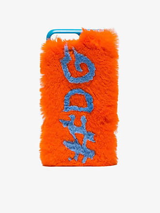 Phone Fluff Faux Fur IPhone 7/8 Case in Blue Charlotte .Simone