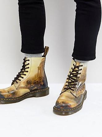 Black Pascal Flower Ankle Boots Dr. Bottes Cheville Fleur Noire Dr Pascals. Martens Martens