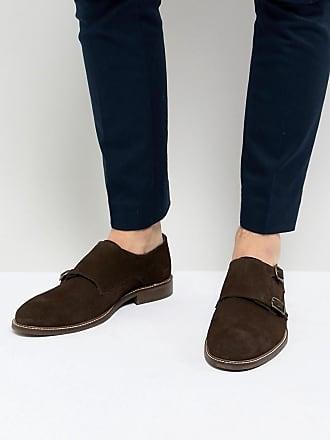 Chaussures En Daim Marron Moine - Dune Brune Londres