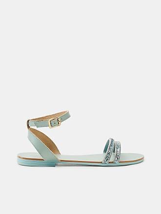 Esprit Metallic-Sandalette in Leder-Optik für Damen, Größe 38, Turquoise