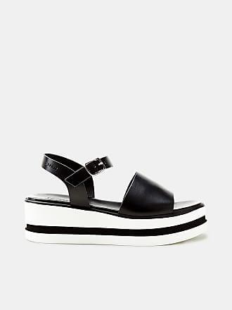 Esprit Leder-Sandale mit Nieten-Details für Damen, Größe 40, Black