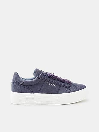 Esprit Retro-Sneaker in Leder-Optik für Damen, Größe 42, Medium Grey