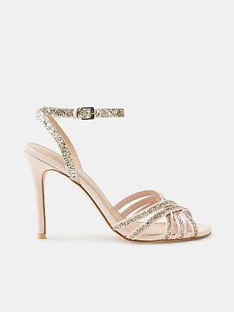 Esprit Trendige Sandalette mit Nieten-Dekor für Damen, Größe 38, Nude