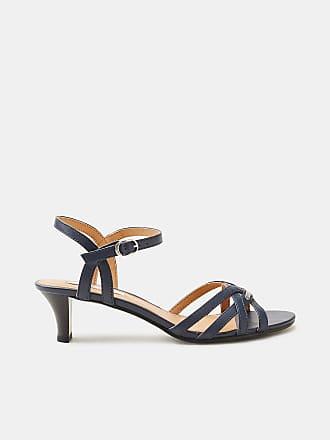 Esprit Elegante Sandalette aus Leder für Damen, Größe 39, Navy