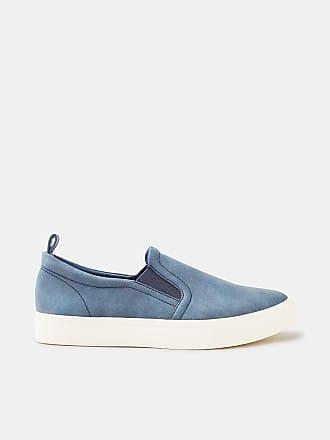 Esprit Slip On-Sneaker in Leder-Optik für Damen, Größe 42, Skin Beige