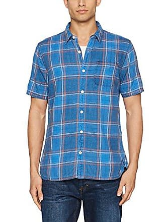 Birtley Check, Chemise Casual Homme, Rouge (Rosehip Red), MFat Face