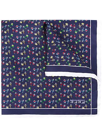 butterfly print pocket square - Multicolour Fefē