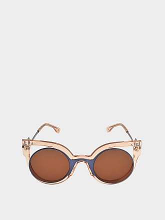 Womens FF 0117/S Y4 IC5 Sunglasses, Beired Brgnd/Lilac, 49 Fendi