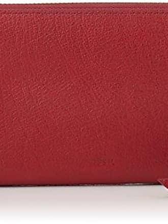 Damen Geldb?rse Caroline - Rfid Zip Around Wallet, Womens Rot (Red Velvet), 2.5x10.8x19.7 cm (B x H T) Fossil