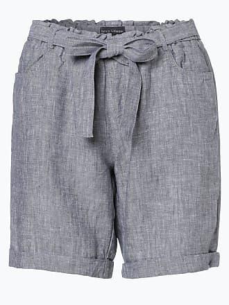 Damen Shorts aus Leinen blau Franco Callegari