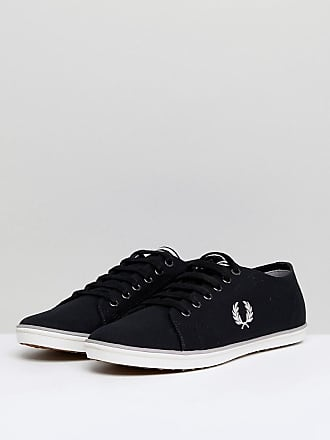 Kingston Twill Plimsolls In Black - 220 Fred Perry