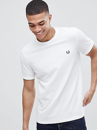 T-shirt print carré contrastant logotypé Blanc Fred PerryFred Perry